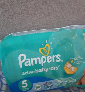 Pampers active baby-dry 5   48 шт