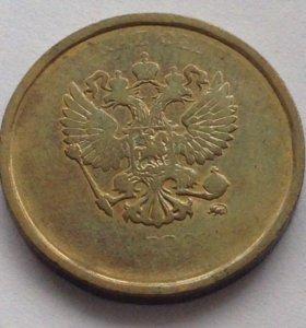Монета 10 рублей брак