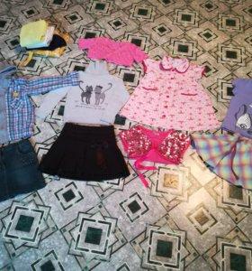 Пакет одежды девочке, 116-122 см