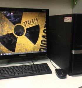 """Игровой компьютер 4 ядра gtx 650 + ЖК монитор """"19"""