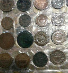 Монеты, ордена, альбом марок и пластины виниловые