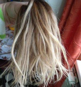 Волосы 35см для горячего наращивания 152 пряди