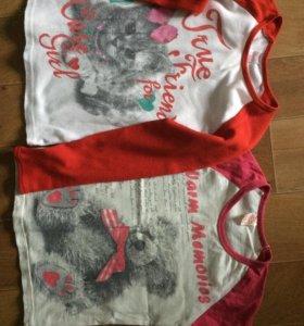 Футболки Глория на девочку 4-6 лет