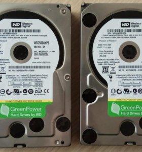 "Жесткие диски SATA на 750Gb, 3.5"""