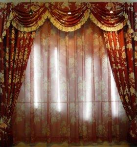 пошив штор.покрывало.ламбрекены.бандо.постельное