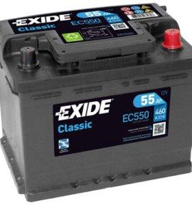 Автомобильный аккумулятор EXIDE EC550