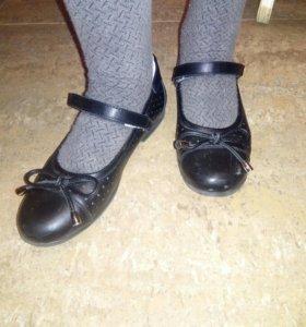 Туфли р.35 кожаные