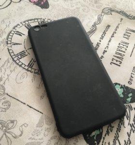 Прорезиненый чехол на айфон 6+