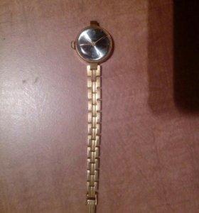 Часы заря 17камней позолота