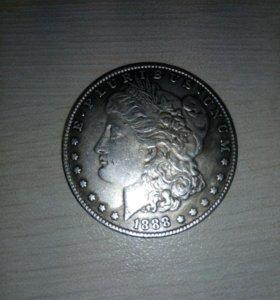 Монета один доллар