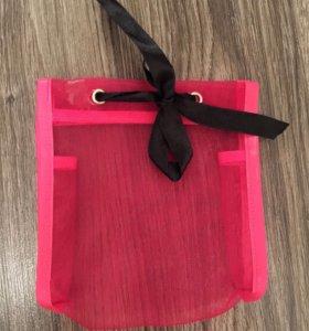 Новая косметичка-мешок с бантом