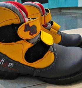Детские лыжные ботинки+ крепления