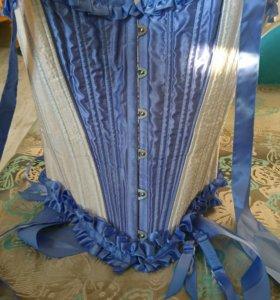 Шёлковый корсет на косточках размер S