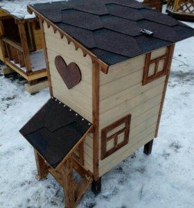 Кошкин дом и дом для молока