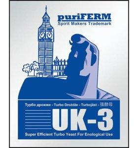 Спиртовые турбо дрожжи PuriFerm UK3