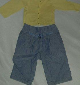 Вещи на девочку, кофта zara+брюки гуливер