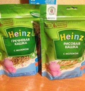 Кашка Heinz молочная гречневая и рисовая