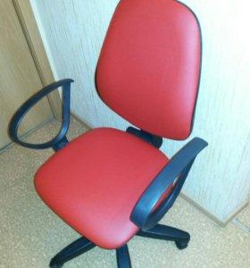 Красная новая кожа кресло