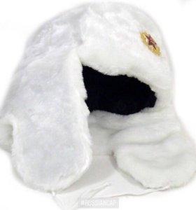 Белоснежные шапки ушанки