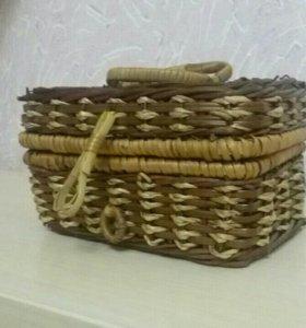 Шкатулка плетеная