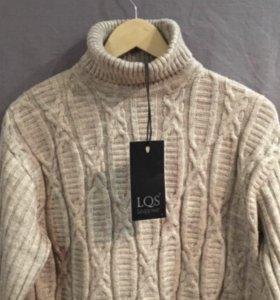 Бежевый свитер из шерсти LQS Leqqosse (Франция)