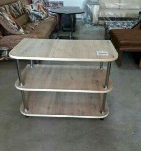 Журнальный стол на хром ножках