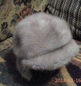 Шапка голубая норка