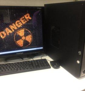 Игровой компьюетр 4 ядра gtx 650 + ЖК монитор 19