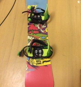 Детский сноуборд- комплект