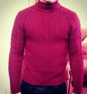 Мужской свитер,.шерсть