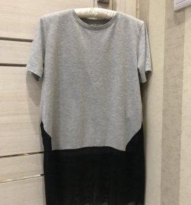 Удлиненная футболка ZARA