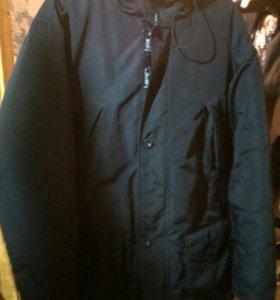 теплая брендовая куртка