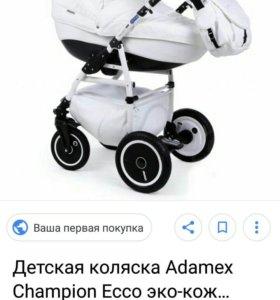 Детская коляска Adamex чемпион Эко кожа 2в1