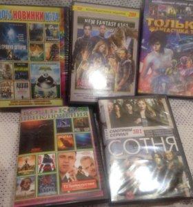 DVD фильмы, сериалы.