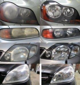 Реставрация оптики фар авто/мото