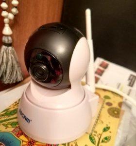Поворотная видеокамера с WI-FI (новая) /видеоняня