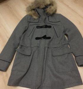 Пальто + шапка и платок