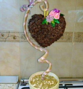Топиарий кофейный - Дерево счастья