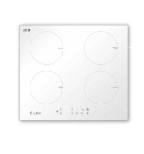 Новая индукционная варочная панель Lex 4 кон белая