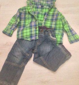 Рубашка babyGap+ джинсы