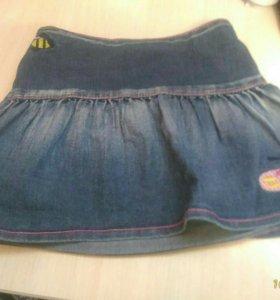 Юбка джинса, 2-4 года
