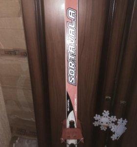 Лыжи Sortavala с креплением, палками