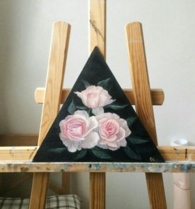 "Картина ""Розы на чёрном"""
