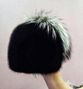 Норковая шапка,цельная,торг