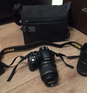 Фотоаппарат Nikon D3100 с двумя объективами