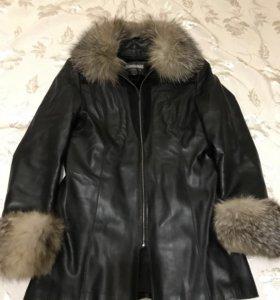 Куртка кожаная утеплённая ТОТО
