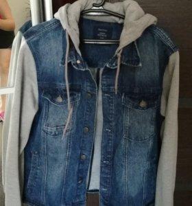 Джинсовая куртка bershka XL