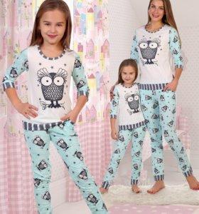 Домашний костюм-пижамка на девочку (новый)