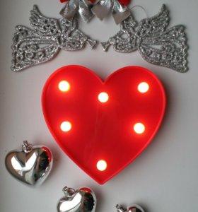 Новый светильник ночник сердце
