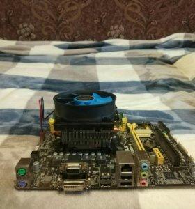 Мат плата, проц AMD A6 6400, ОЗУ 4 гига и куллер.